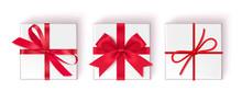 Set Of Decorative White Gift B...