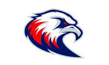 Logo Of Blue And Red Eagle For A Sport Team
