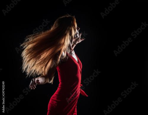 Valokuvatapetti Caucasian white female model portrait