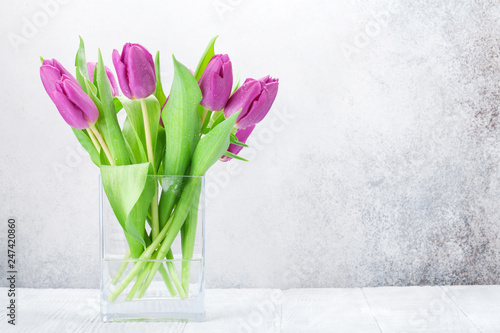 Colorful tulips flower bouquet