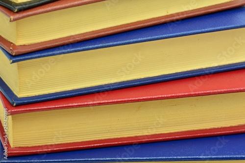 Fotografiet Textura pila de libros