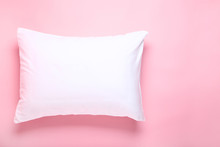 Soft White Pillow On Pink Back...