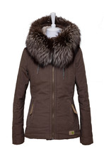 Woman Clothes. Stylish Brown F...