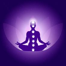 Silhouette Of Person In Yoga L...