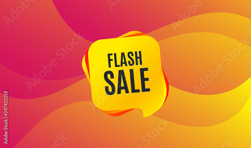 Obraz Flash Sale. Special offer price sign. Advertising Discounts symbol. Wave background. Abstract shopping banner. Template for design. Vector - fototapety do salonu