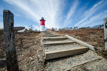 Nauset Lighthouse, Located On Cape Cod Massachusetts