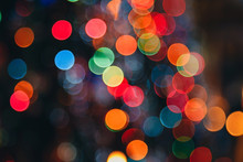 Bokeh. Defocused Multi Colored...