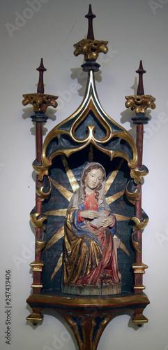 Virgin Mary altarpiece in Saint Benedict basilica in the famous Benediktbeuern a Poster Mural XXL