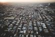 Aerial of Foggy Sunrise in Philadelphia