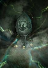 An Alien Egg Inside A Dark Cav...