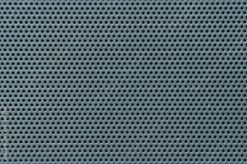 Fotografie, Obraz  Surface texture of perforated metal sheet, macro.
