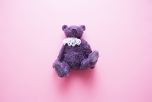 Purple Furry Vintage Teddy Bea...