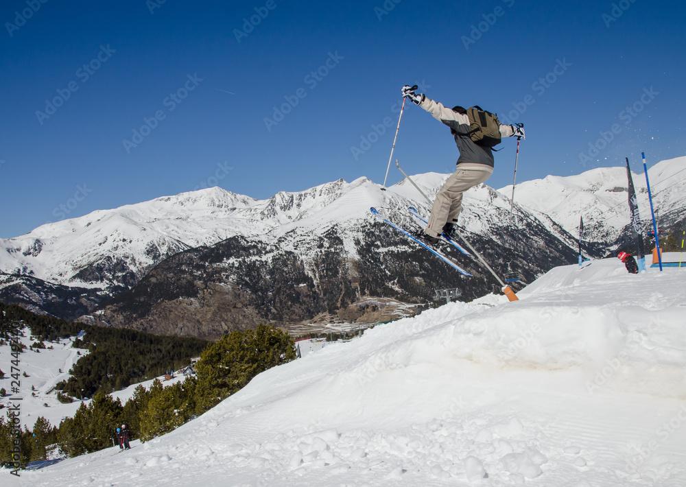 9066b68aff4 Photo   Art Print Ski jump in Pas de la Casa