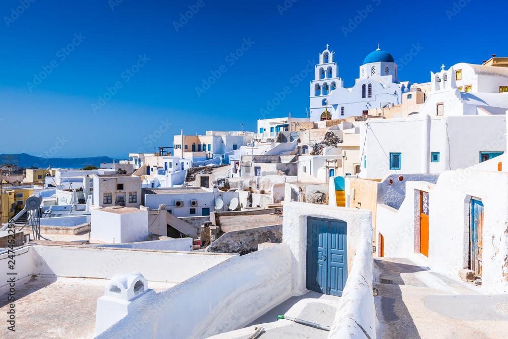 Fototapety, obrazy: Pyrgos, Santorini, Greece