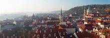 Prague - The Panorama Of Mala Strana, St. Nicholas, And St. Thomas Church.