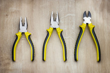 Yellow Combination Pliers And Side Cutters