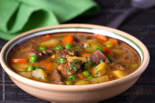 Traditional Irish lamb stew with vegetables