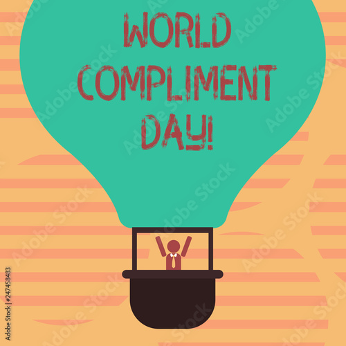 Fotografía  Word writing text World Compliment Day