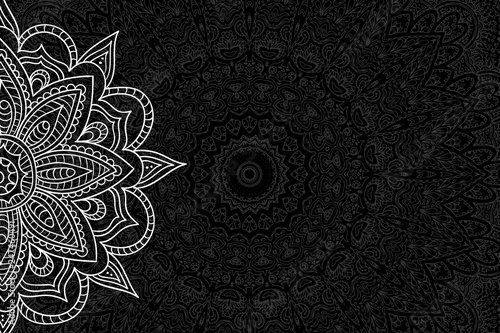 Canvas Prints Boho Style Elegant Mandala Background