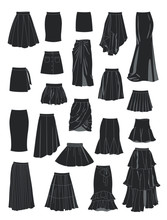 Set Of Silhouettes Of Women's ...