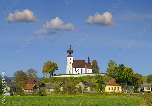 Church of the Holy Spirit is a late Romanesque sacral building from the second half of 13th century, located in the village of Zehra, district of Spisska Nova Ves. Slovakia, UNESCO World Heritage Site