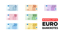 Euro Money Banknotes Of Europe...