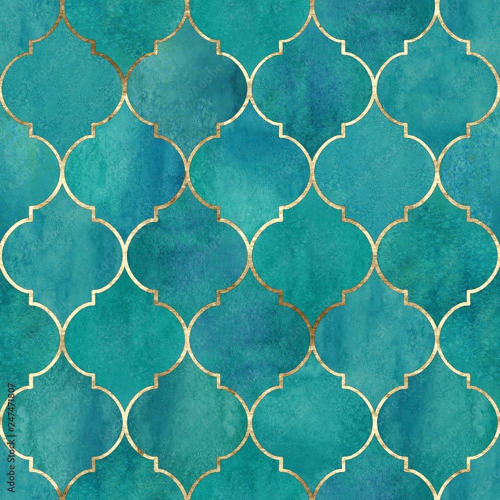 Vintage dekoracyjne nieczysty indyjski, marokański wzór