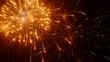 Bright volleys of fireworks in the night sky. City holiday