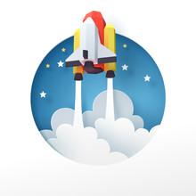 Paper Art Of Space Shuttle Lau...