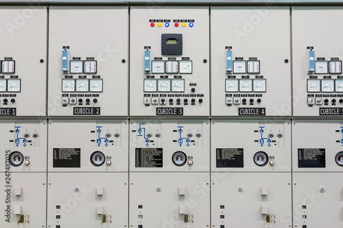 Fotografie, Obraz  Indoor medium voltage metal enclosed switchgear