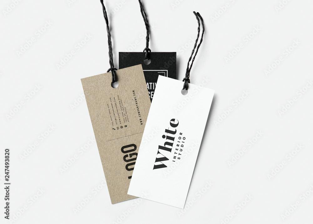 Fototapeta Three fashion label tag mockups