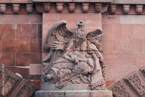 Stone eagle sculpture on Moltke Bridge Berlin Germany Wallpaper Mural