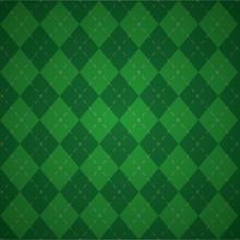 Green Plaid Check Cloth