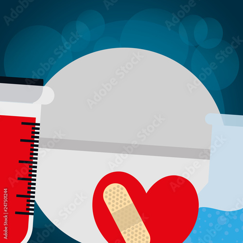 heart cardio with cure band - Buy this stock vector and