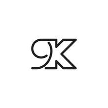 9k Letter Icon Logo Vector Tem...