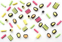 Colorful Lollipop And Licorice...