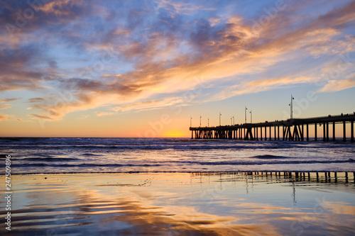 sunset on the beach - 247509896