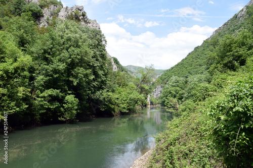 Fotografie, Obraz  Treska river in Matka canyon. Skopje, Macedonia.