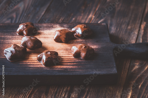 Gingerbread on the wooden board