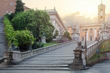 Rome, Italy. Cordonata Capitol...