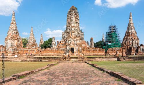 Fotobehang Historisch geb. Ruins of the old city of Ayutthaya, Thailand