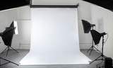 A stock photography studio