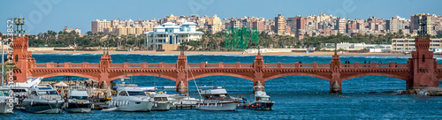 17/11/2018 Alexandria, Egypt, view of the embankment of the ancient city on the Canvas Print
