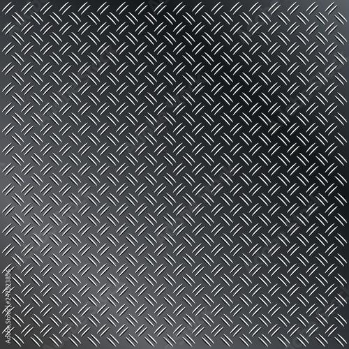 Anti slip gray metal plate with diamond patter Wallpaper Mural