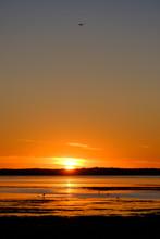Sunset At Hornborgasjön, Swed...