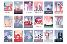 City Cards Set, Landscape Temp...