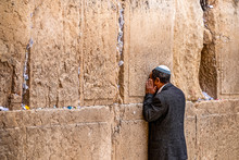 Believing Jew Is Praying Near ...
