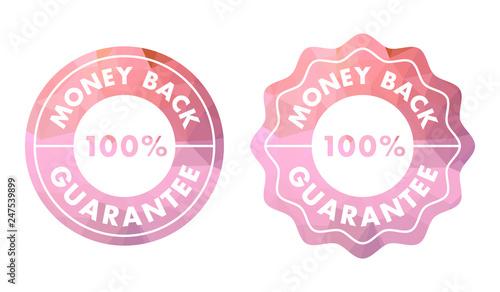 Fotografía  Money back guarantee stamp or seal in modern design.