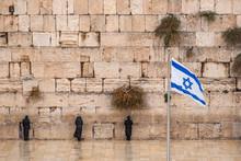 Israeli Flag Against The Weste...