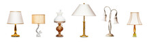 Vintage Table Lamps Set